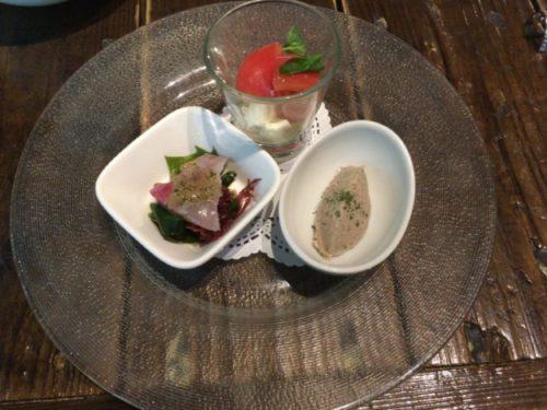 モキチトラットリアの平日限定ランチコース「前菜3種」