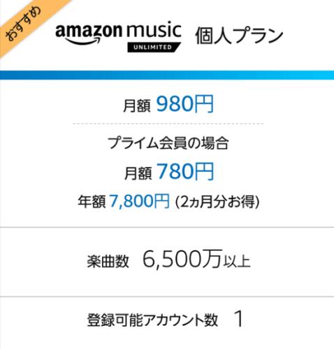 Amazon_Music_Unlimitedの個人プラン画像
