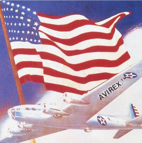 avirexのマークが入ったアメリカ軍の爆撃機